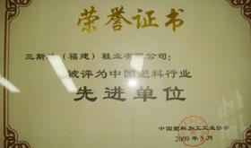 2009年中国塑料行业先进单位